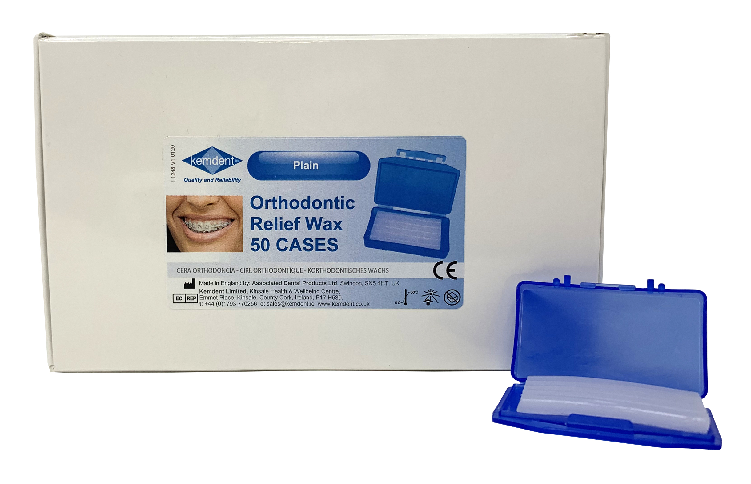Orthodontic Relief Wax Plain Flavour box/50