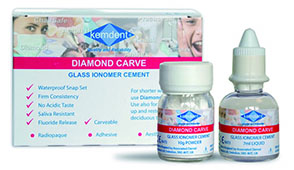 Diamond carve glass ionomer cement