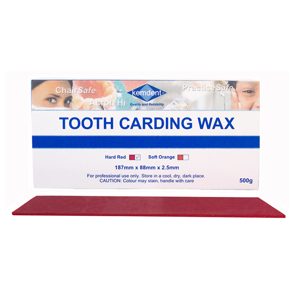 Kemdent Tooth Carding Wax Hard Red 500g